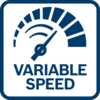 Easy and precise control of the RPM thanks to variable speed