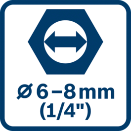 Bit holder 6 - 8 mm collets