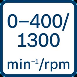 No load speed 0 - 400/0 - 1300 min-1/rpm