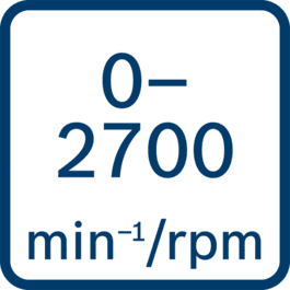 No load speed 0 - 2700 min-1/rpm
