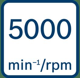 No load speed 5000 min-1/rpm