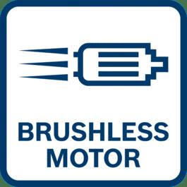 Longer motor life - more runtime - more power thanks to brushless motor