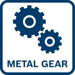 Longer lifetime Optimal power transmission and less wear and tear thanks to full metal gear construction