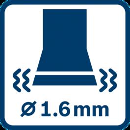 Vibration emission value ah ∅ 1.6 mm