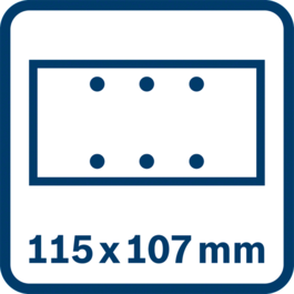 Sanding sheet 115 x 107 mm, 6 holes