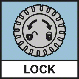 Lock Function GAM Lock function for locking the angle measurer at a certain angle