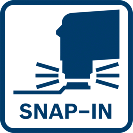 Tool-free accessory changes in 3 seconds thanks to snap-in function