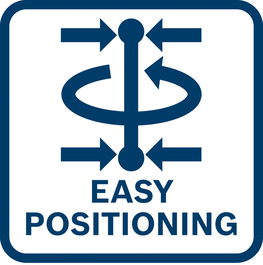 Easy line positioning around the plumb dot