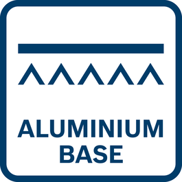High durability and light weight of footplate thanks to aluminium base