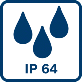 International Protection Marking 64 Dust tight and protected against splash water