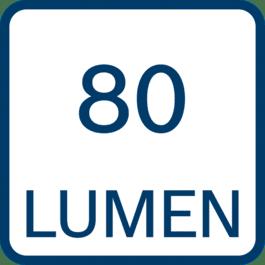80 lumens