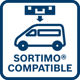 Load quickly and drive safely Fits the German TÜV-tested in-vehicle equipment system from SORTIMO perfectly and without an adapter