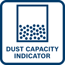 High convenience thanks to dust capacity indication