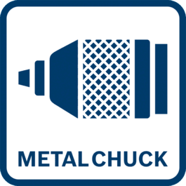Extremely robust thanks to full metal keyless chuck