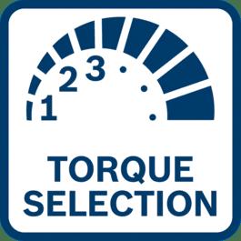 Various torque settings to provide precise control.