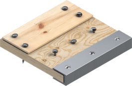 Wood with metal