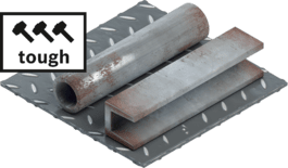 Tough steel