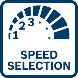 Best work results with speed pre-selection Best work results with speed pre-selection for applications requiring material-specific speed