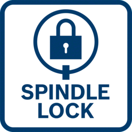 Easy disc / tool change thanks to spindle lock