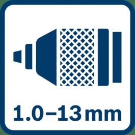 Metal chuck 1.0 - 13.0 mm