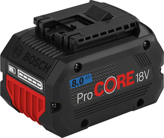 in cardboard box with 1 x 8.0 Ah ProCORE18V Li-ion battery