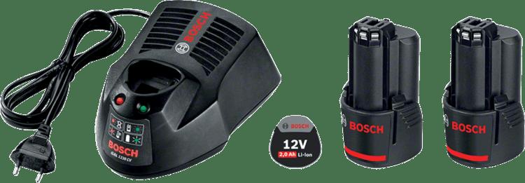 Starter Kit 2 x GBA 12V 2.0Ah + GAL 1230 CV Professional