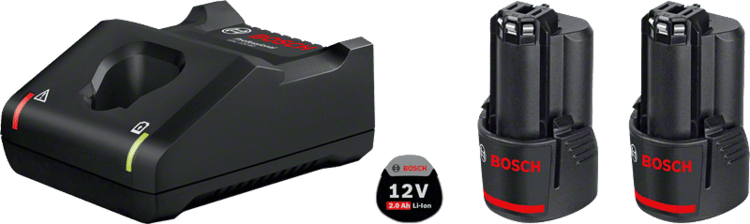 2 x GBA 12V 2.0Ah + GAL 12V-40 Professional