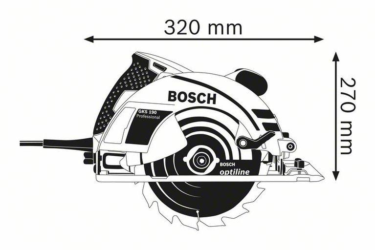 ცირკულარული ხერხი (ჩებურაშკა) GKS 190